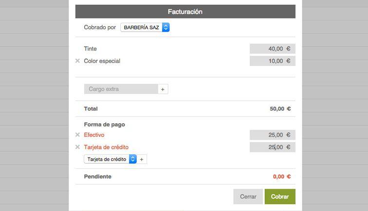 facturacion aplicacion Reservas online